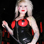 Submit to mistress lola2  wild punk rocker shocks and abuses her pathetic man slave. Wild Punk Rocker shocks and abuses her pathetic Man Slave