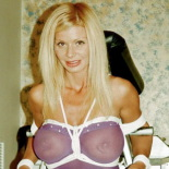 Blonde bombshell2. Master Savage binds this amazon while she eats her panties